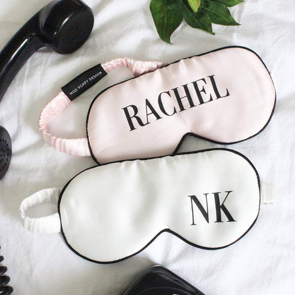 Personalised Silk Eye Mask- Initials