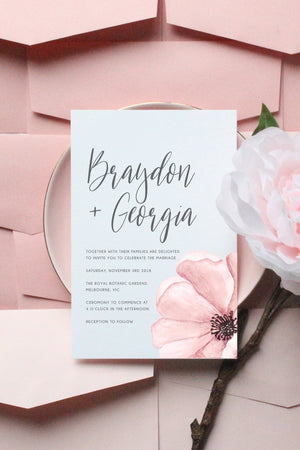 Wedding Invitation - Floral Explosion - Miss Poppy Design