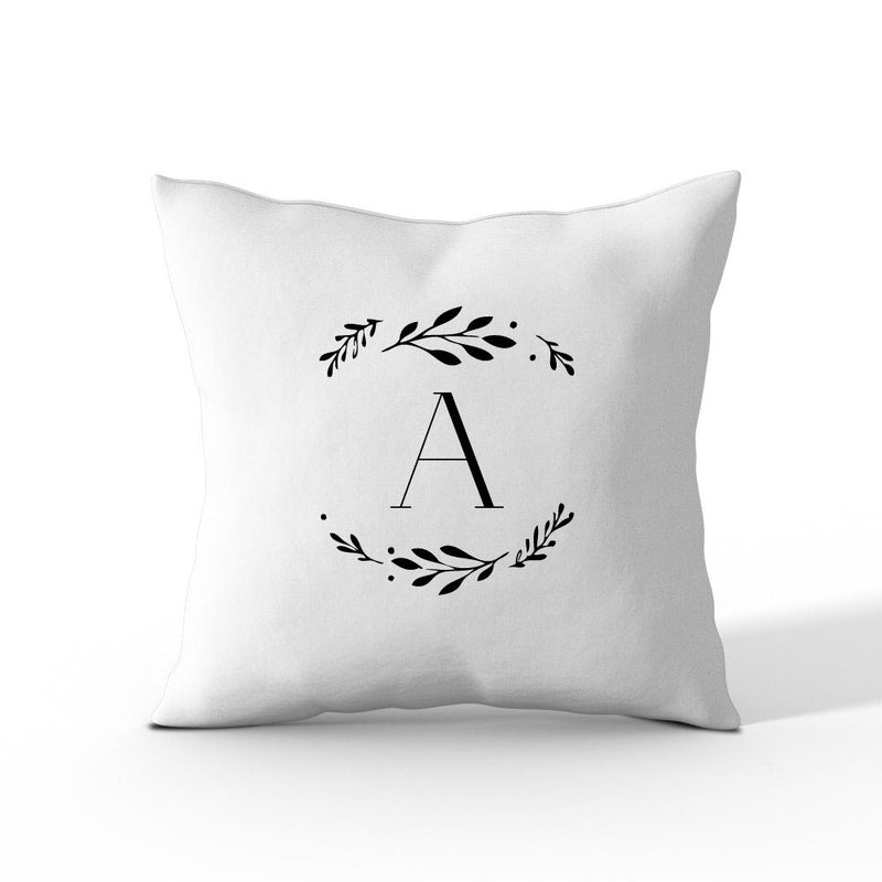 Floral Initial Personalised Cushion