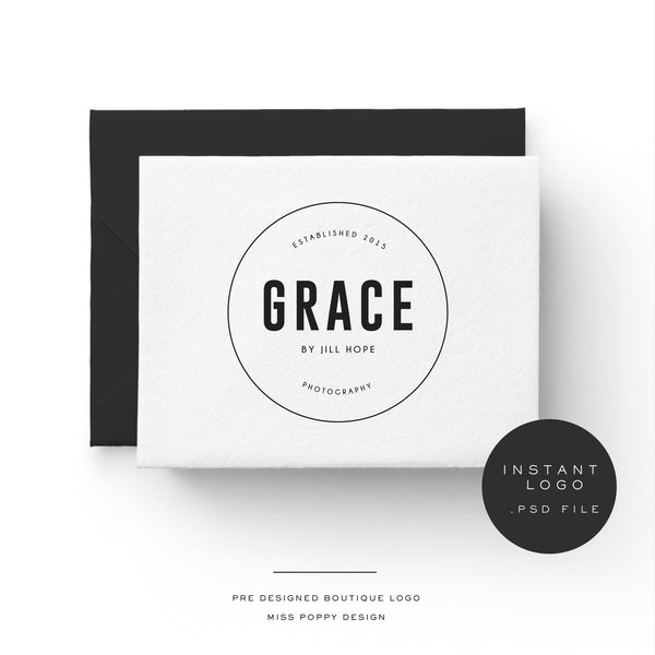 GRACE - INSTANT LOGO - Miss Poppy Design