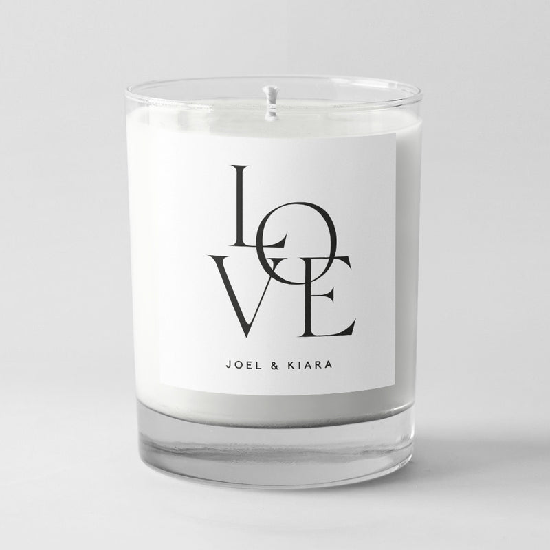 Guest Favour Candles - LOVE