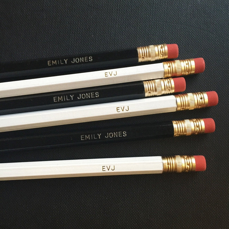 PERSONALISED PENCILS - Miss Poppy Design