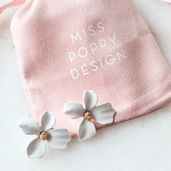 In Bloom Earrings White