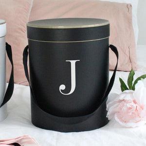 Initial Personalised Gift Box Black - Miss Poppy Design