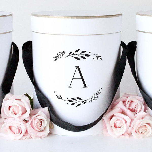 Personalised Gift Box - Floral Initial - Miss Poppy Design