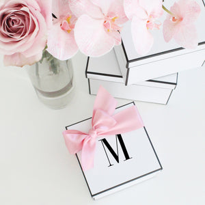 Personalised Initial Gift Box- Square - Miss Poppy Design