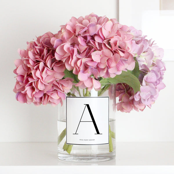 Initial Personalised Glass Vase