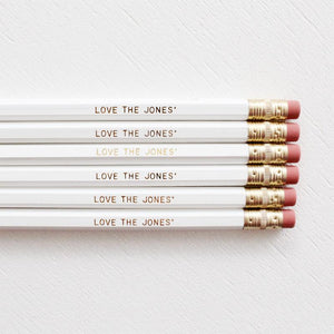 WITH LOVE- PERSONALISED WEDDING PENCILS - Miss Poppy Design