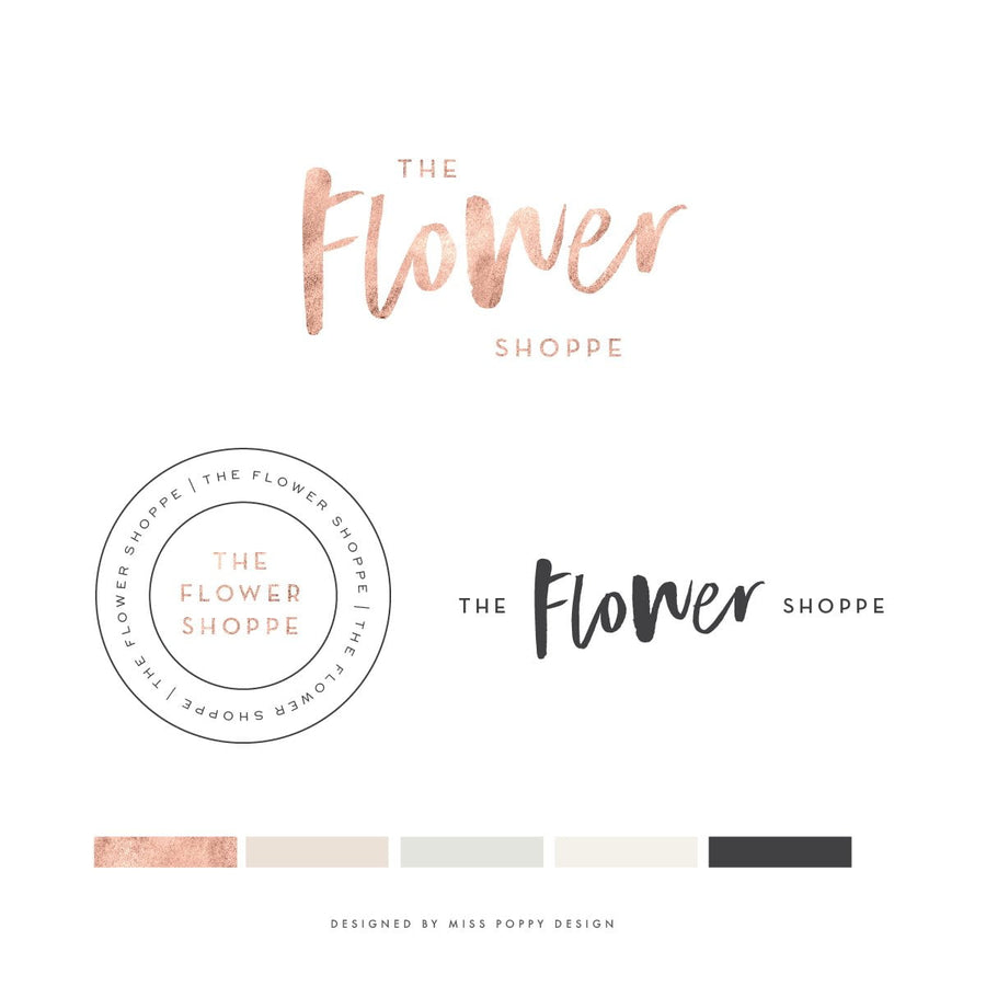 Logo Design Branding Pack - The Flower Shoppe