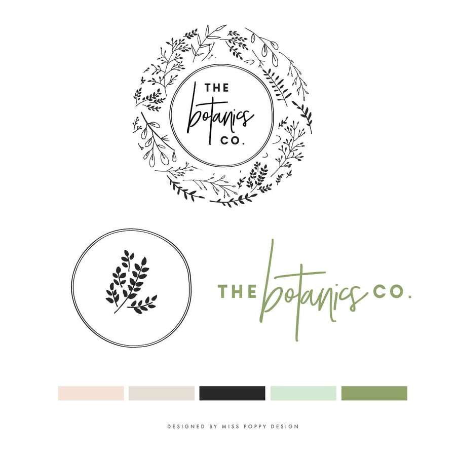 Logo Design Branding Pack - The Botanics Co.