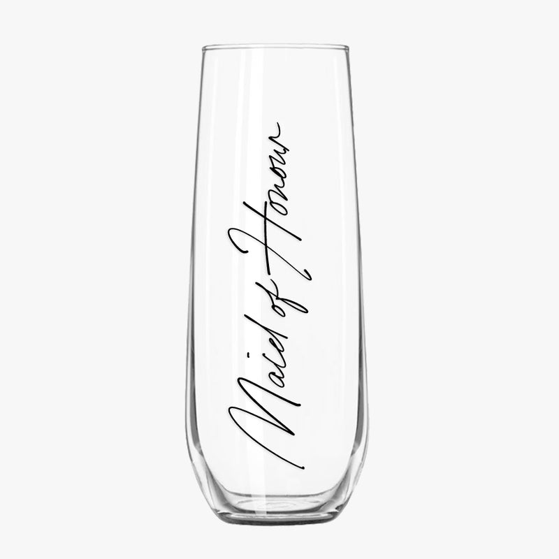 Stemless Champagne Flutes - Bridal Party