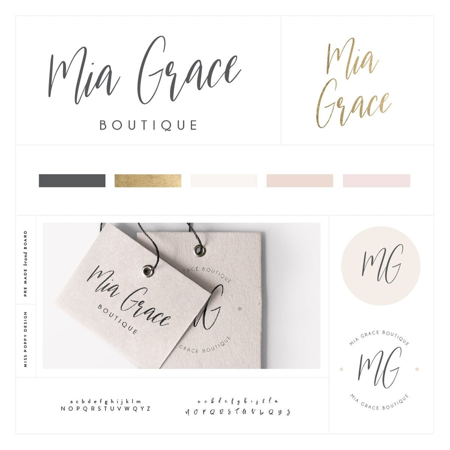 Logo Design Branding Kit - Mia Grace