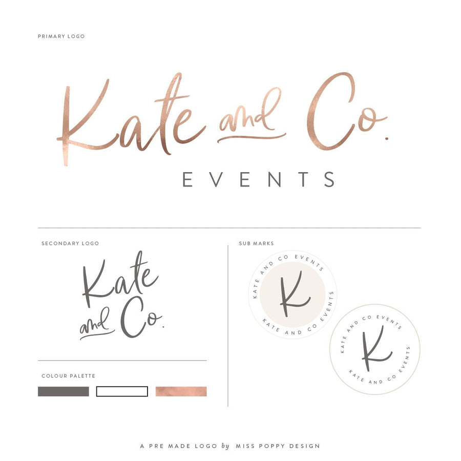 Logo Design Branding Kit - Kate and Co.