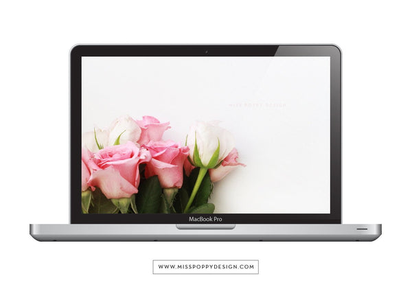 DESKTOP WALLPAPER- ROSES - Miss Poppy Design