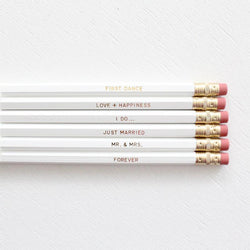 ULTIMATE WEDDING PENCIL SET- WHITE - Miss Poppy Design