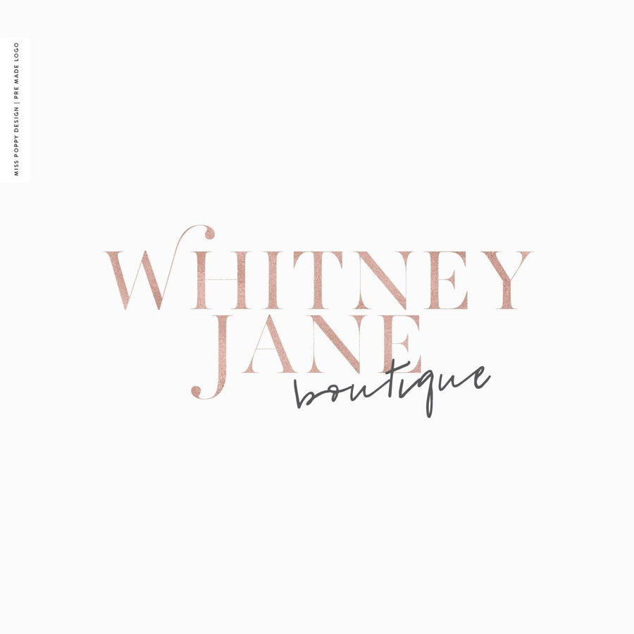 Logo Design Branding Kit - Whitney Jane