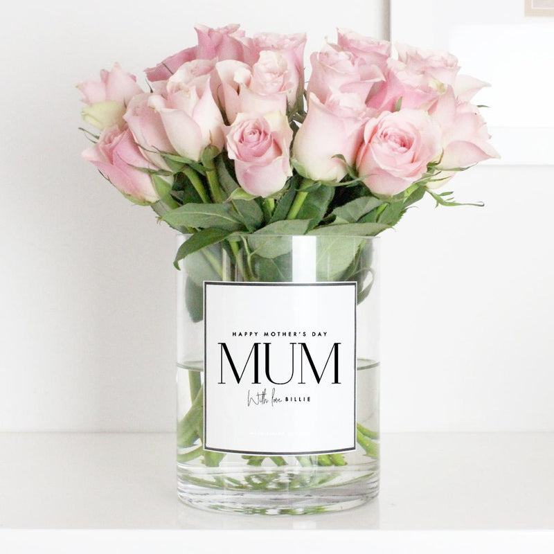 Mother's Day Personalised Glass Vase