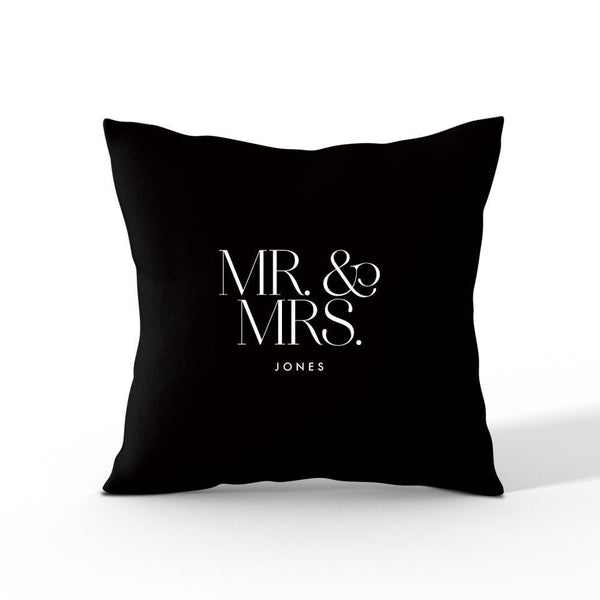 Mr & Mrs Personalised Cushion