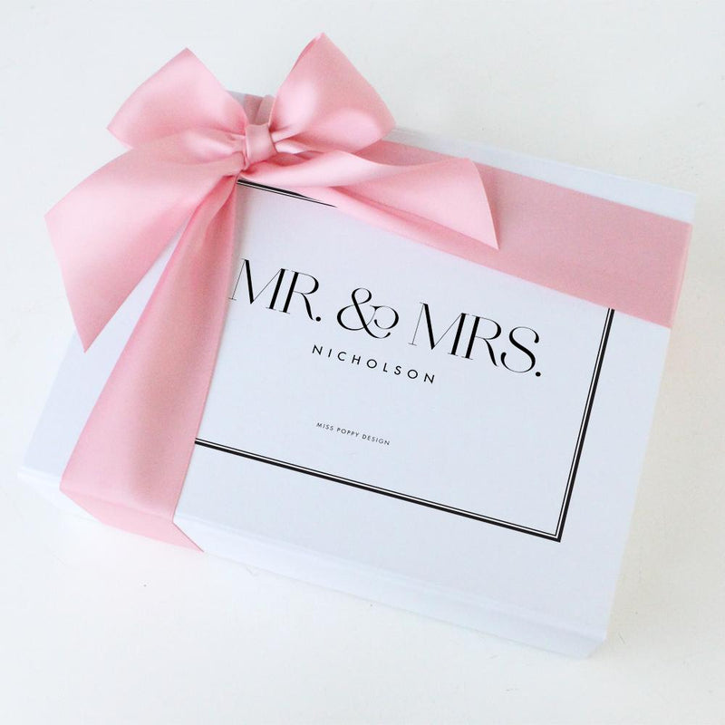 Mr. & Mrs. Personalised Gift Box- Rectangle