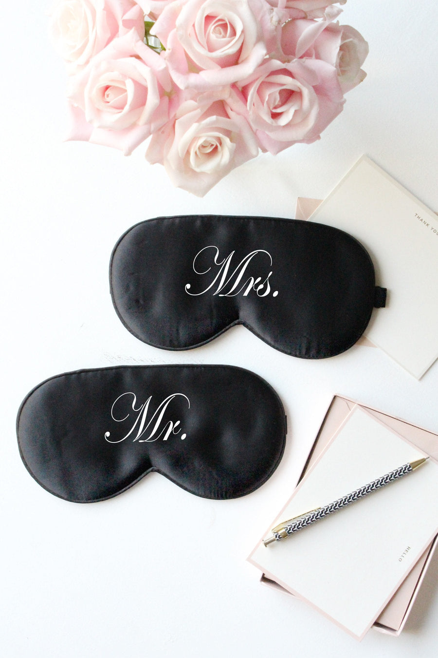 Silk Eye Mask- Mr. & Mrs. - Miss Poppy Design