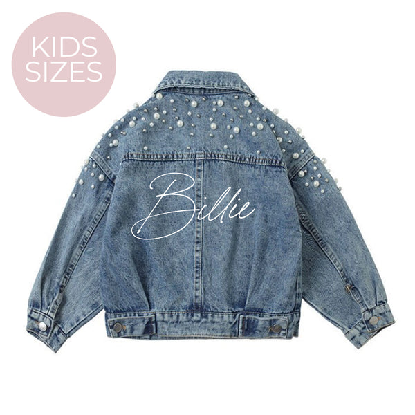 Girls Denim Jacket - Personalised