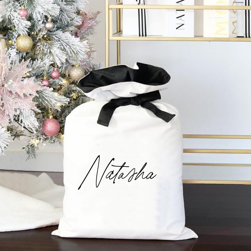 Luxe Personalised Christmas Sack- Name