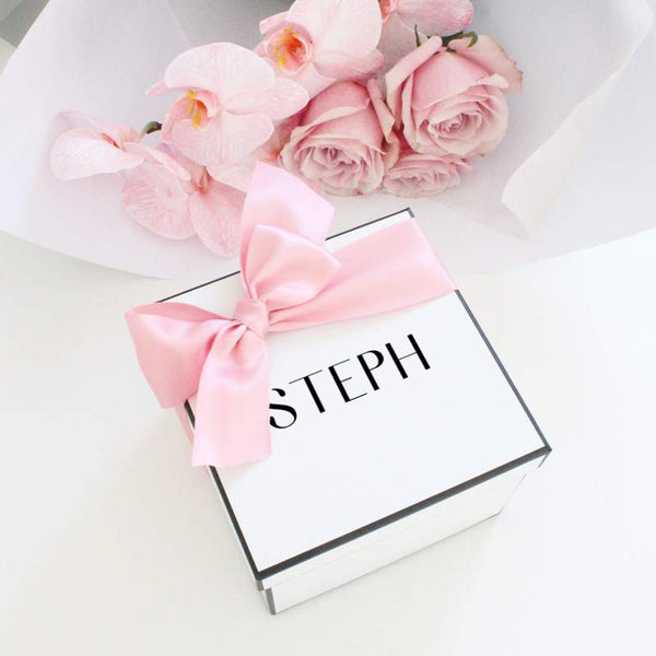 Personalised Name Gift Box- Square