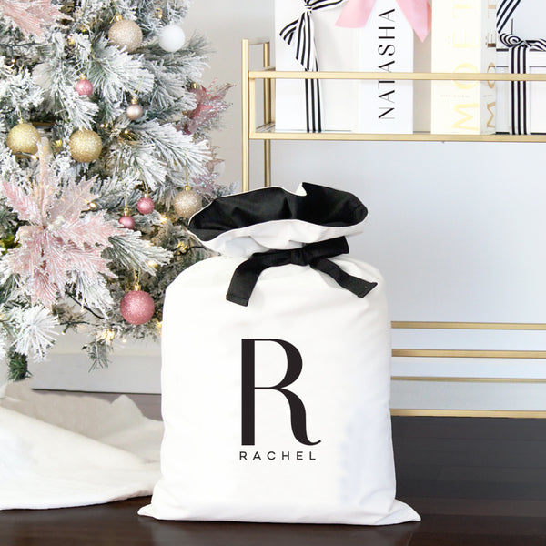 Luxe Personalised Christmas Sack- Name and Initial