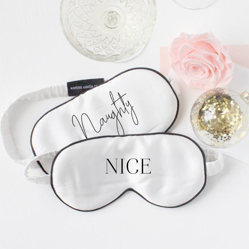 Naughty or Nice eye mask set - Miss Poppy Design