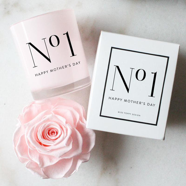 No.1 Mum Soy Candle - Miss Poppy Design