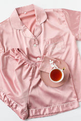Personalised Short Pyjamas Set- Dusty Rose