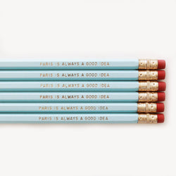 PARIS PENCIL SET- BLUE - Miss Poppy Design