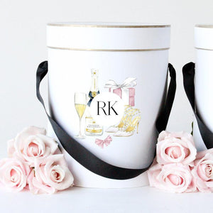 Initials Watercolour Personalised Gift Box - Miss Poppy Design