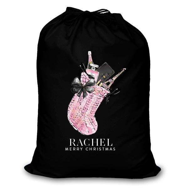 Personalised Christmas Sack - Pink Stocking