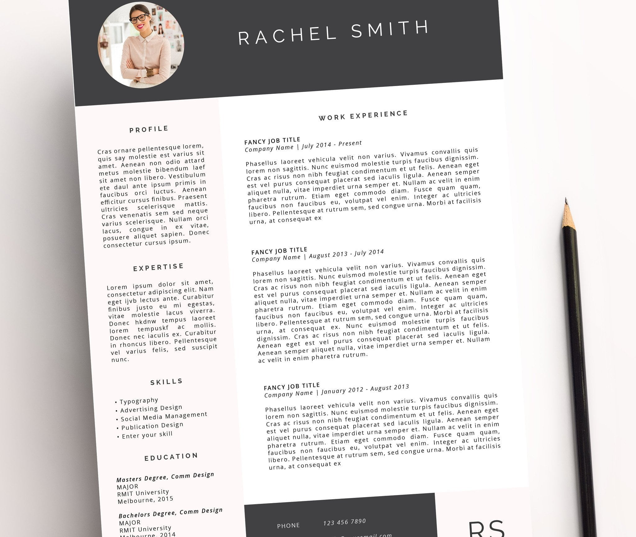 resume template rachel miss poppy design resume template rachel