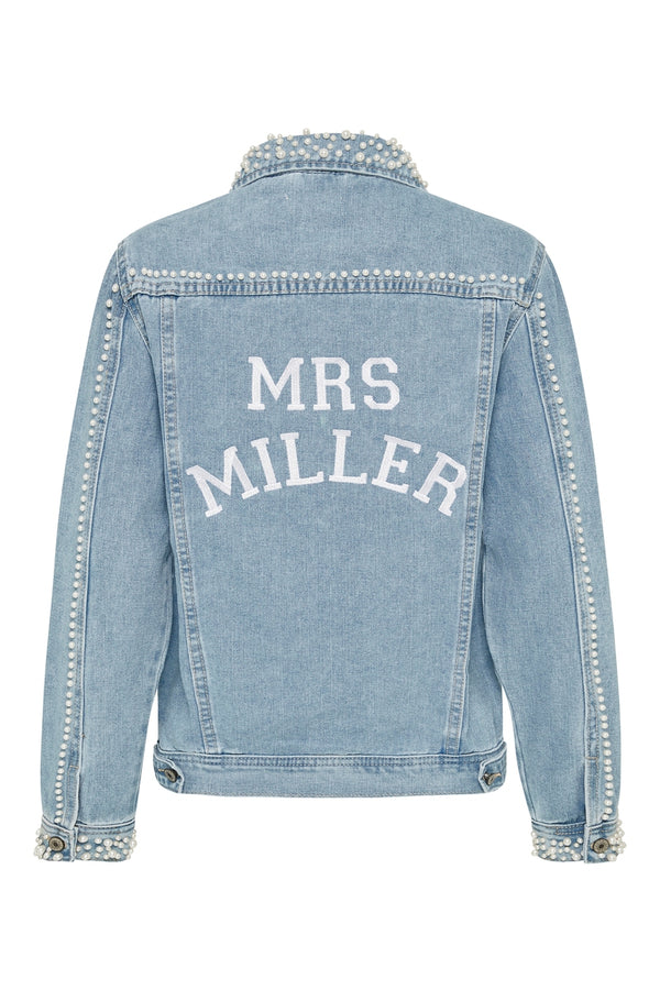 Personalised Pearl Bridal Jacket