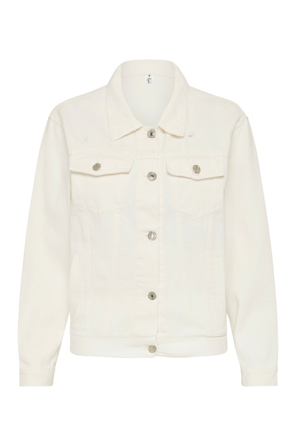Personalised White Denim Jacket