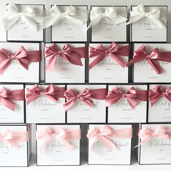 Personalised Bridal Proposal Gift Box