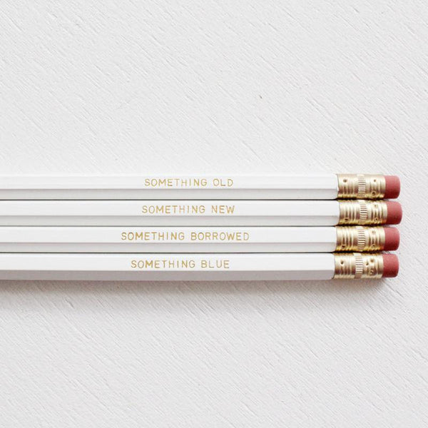 SOMETHING NEW PENCIL SET- WHITE - Miss Poppy Design