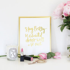 DAILY REMINDERS- GOLD FOIL PRINT - Miss Poppy Design