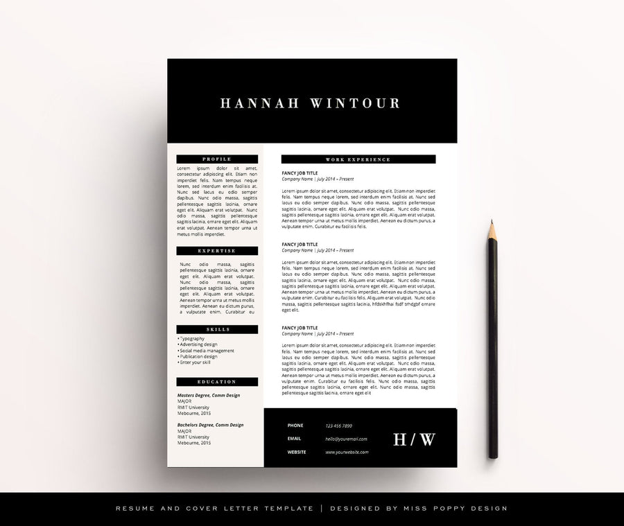 "Resume Template - ""Vogue"""