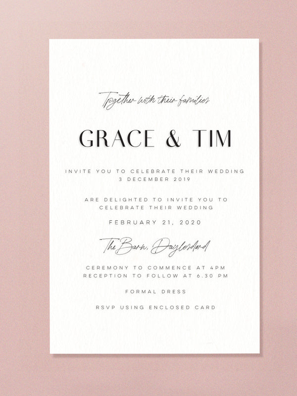 Wedding Invitation - True Love