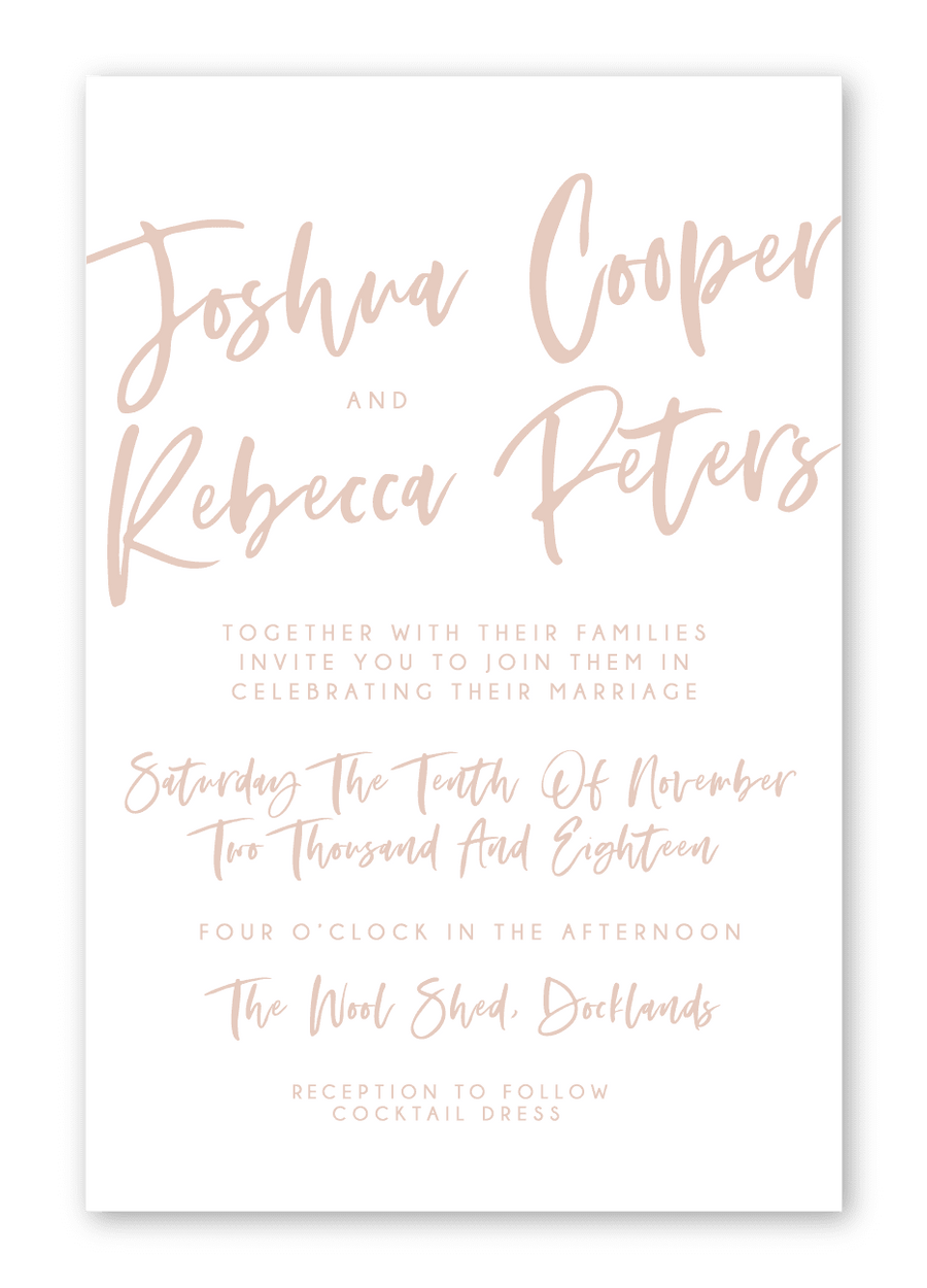 Wedding Invitation - Lettered with Love - Miss Poppy Design