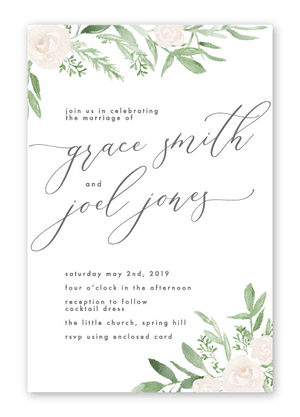 Wedding Invitation - In Bloom - Miss Poppy Design