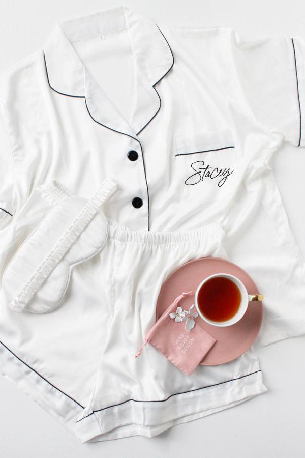 Short Pyjamas Set- White