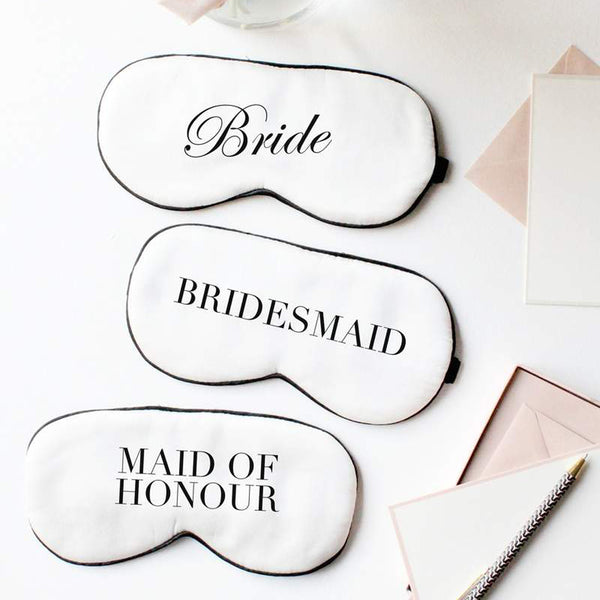 Bridal Silk Eye Mask Set