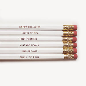 NECESSITIES PENCIL SET- WHITE - Miss Poppy Design