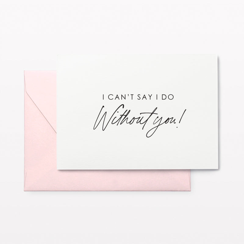 Without You Proposal Card