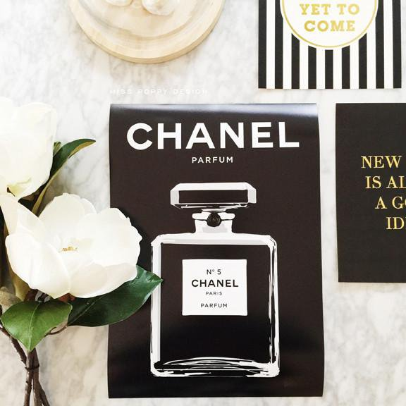 Chanel No 5 Wall Art Poster Print