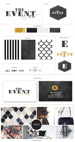 Logo Design Branding Kit - The Event Co. - Miss Poppy Design